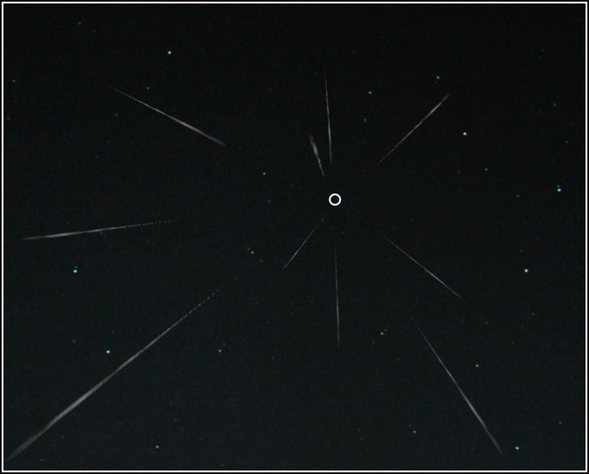 Geminids Meteor Shower with Radiant in Gemini