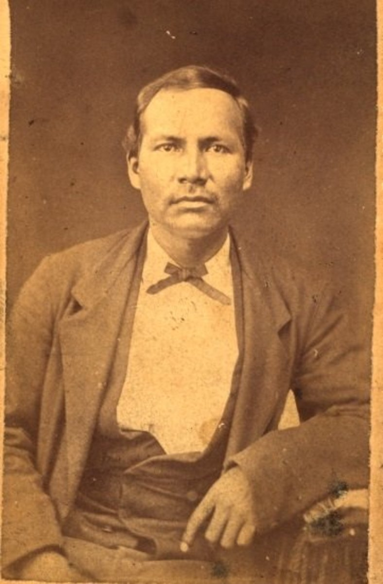 Jacob B. Jackson, a prominent Choctaw of Shady Point, Indian Territory. 1884