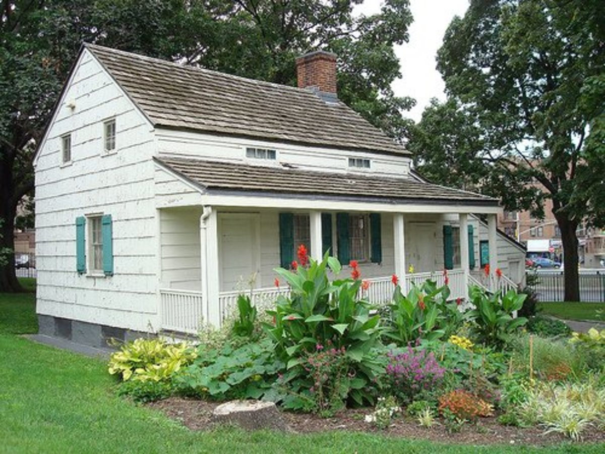 This is the small house in the Bronx, New York City where he lived in the last few years of his life, and where his wife Virginia died.
