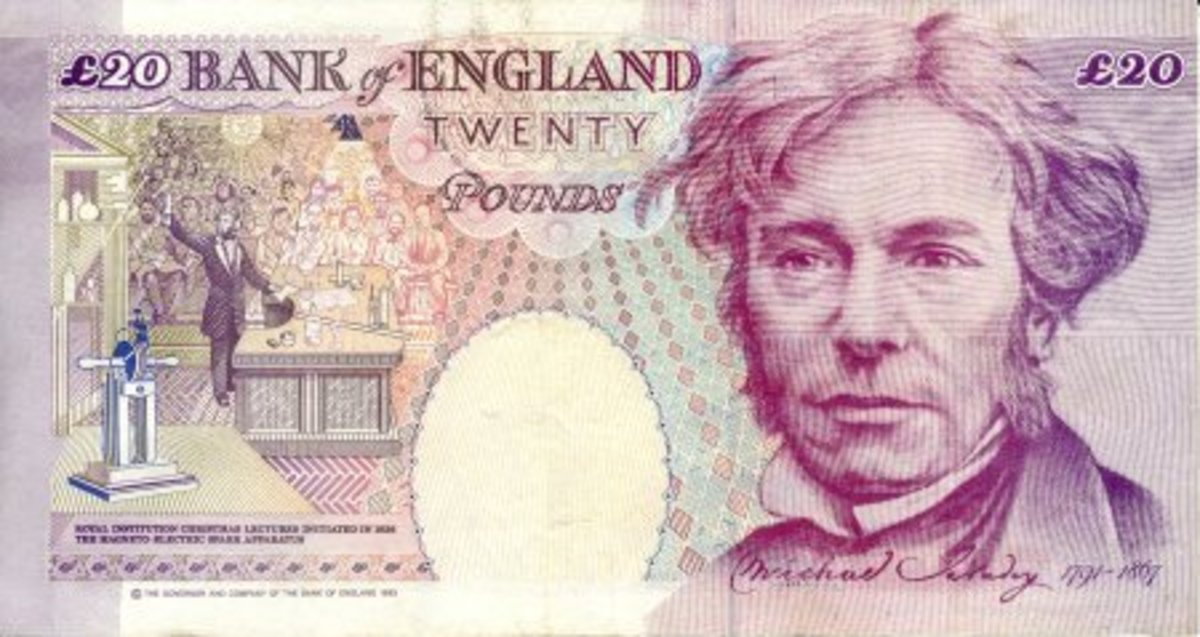 20 Pound Bank of England Note honoring Michael Faraday