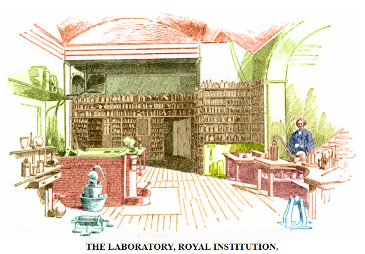 Faraday's Laboratory at the Royal Institute.