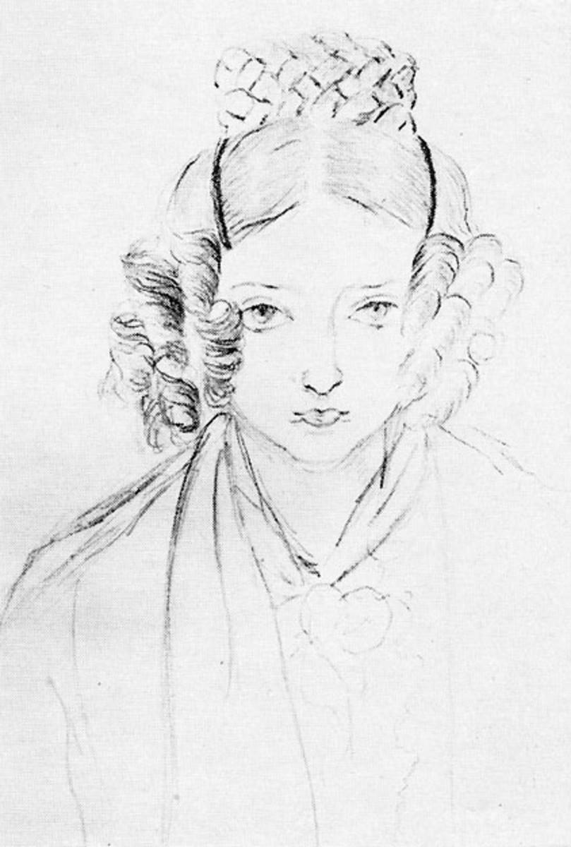 Victoria self-portrait in 1835.