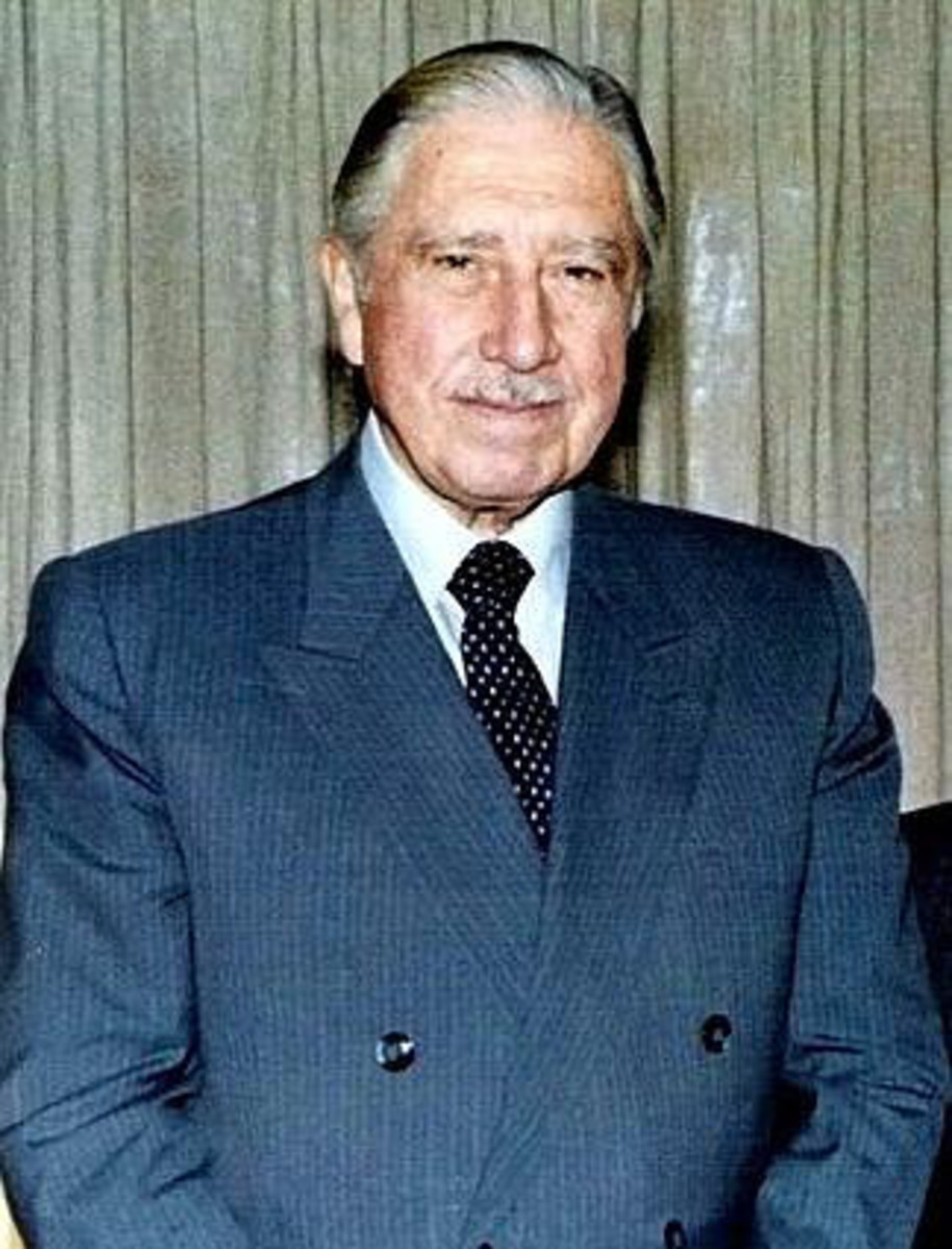 Augusto Pinochet, Chilean dictator from 1973 to 1990