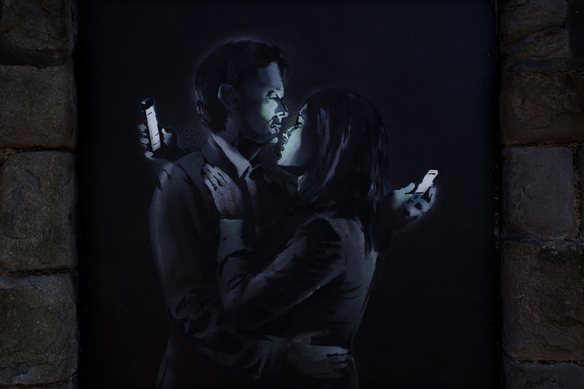 Mobile Lovers by Banksy