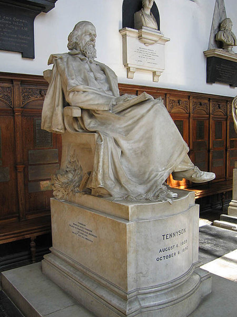 Statue of Alfred, Lord Tennyson in the chapel of Trinity College, Cambridge