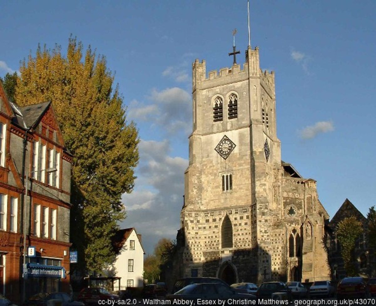 Waltham Abbey Church, said to be the inspiration for Ring Out, Wild Bells