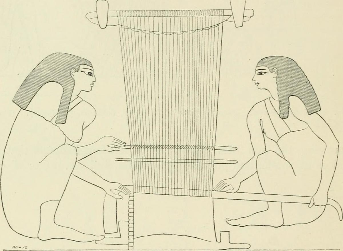 This ancient Egyptian loom was probably worked by the women of the harem.