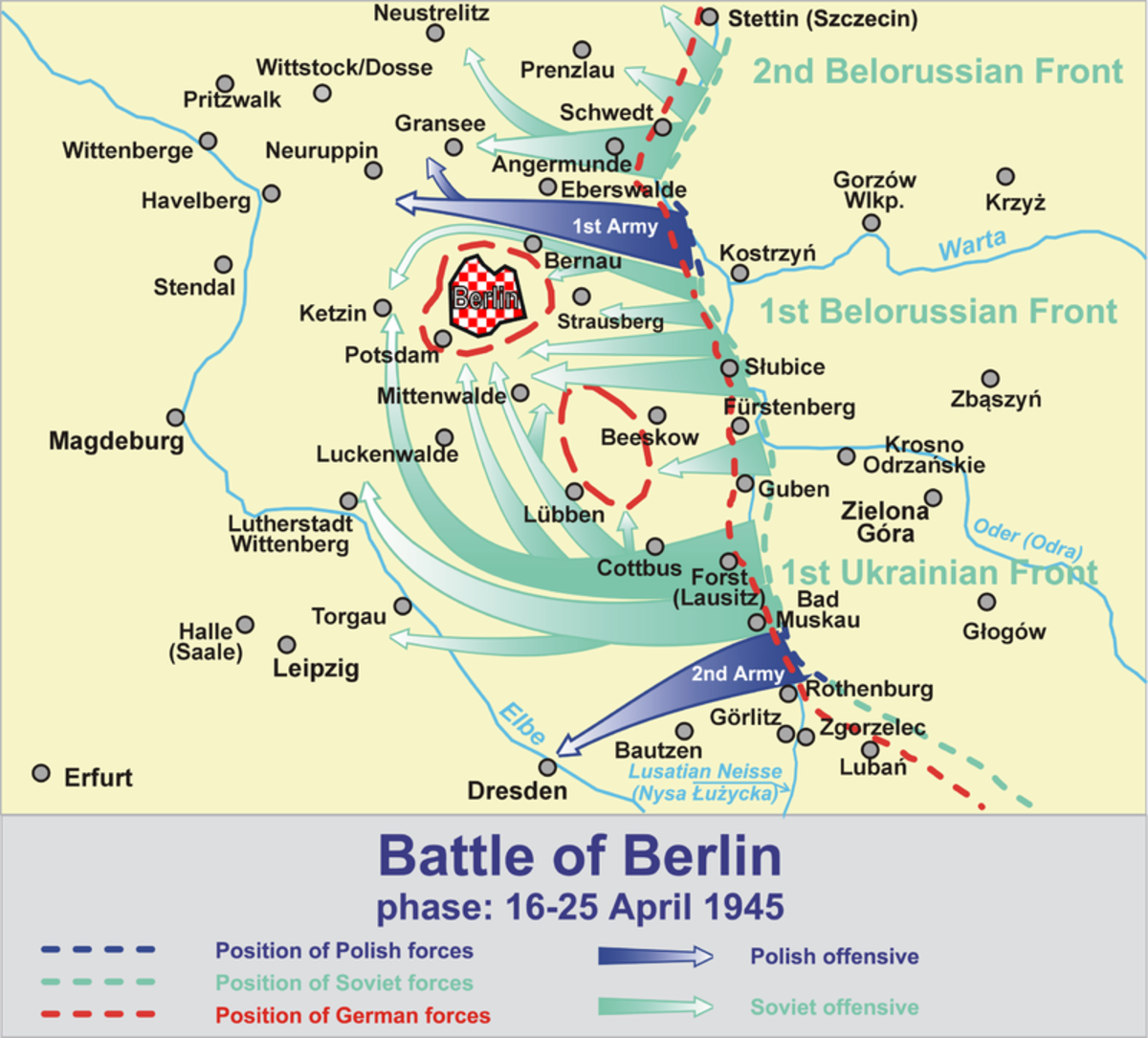 The Red Army surrounds Berlin April 1945
