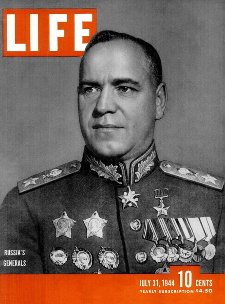 Marshal Georgy Zhukov would lead the Red Army into Berlin April 1945.