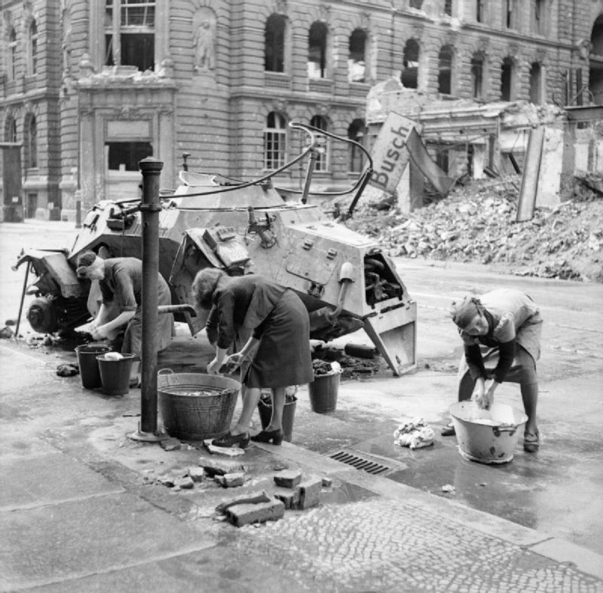 Women doing their washing Berlin 1945