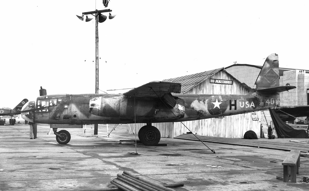 The Arado AR 234 Blitz was the world's first operational jet powered bomber, built by the German Arado company in the closing stages of the Second World War.