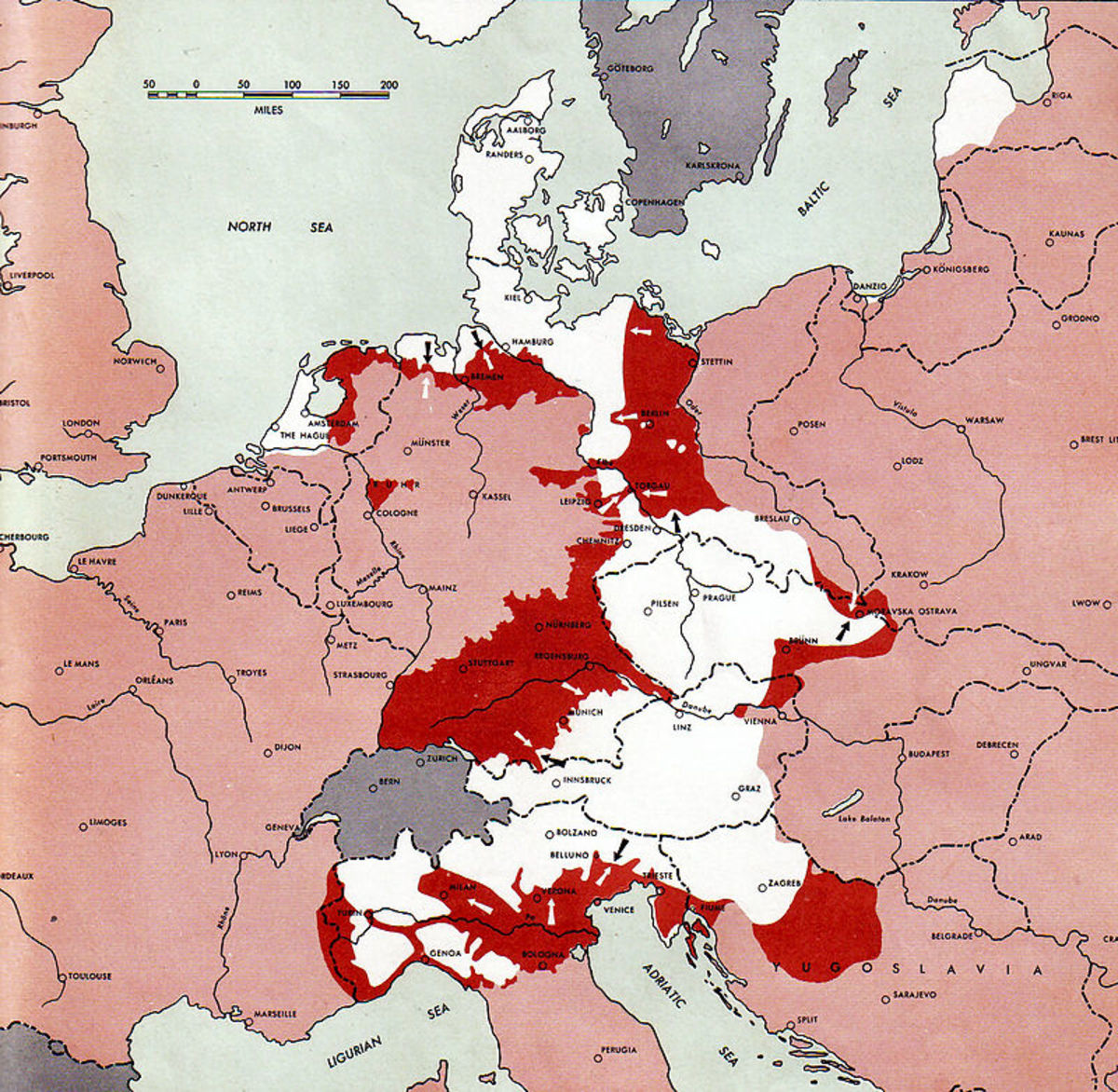Despite the constant bombing and shrinking of German Reich there were still Nazis who were not willing to even consider the thought of surrender.