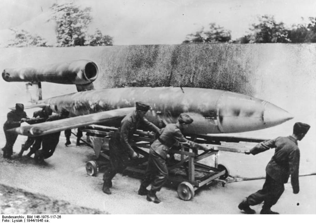 A German V-1 guided missile what today is know as the cruise missile.