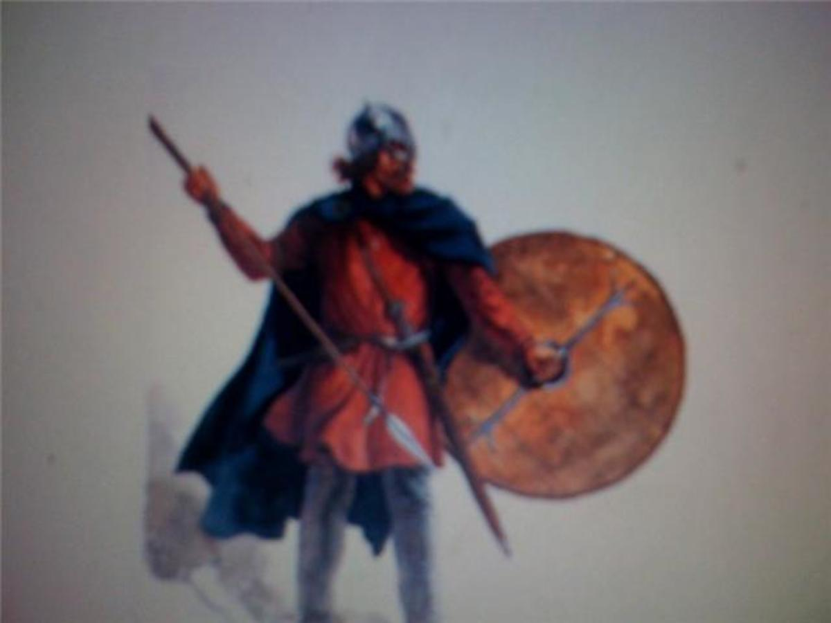 A Saxon warrior
