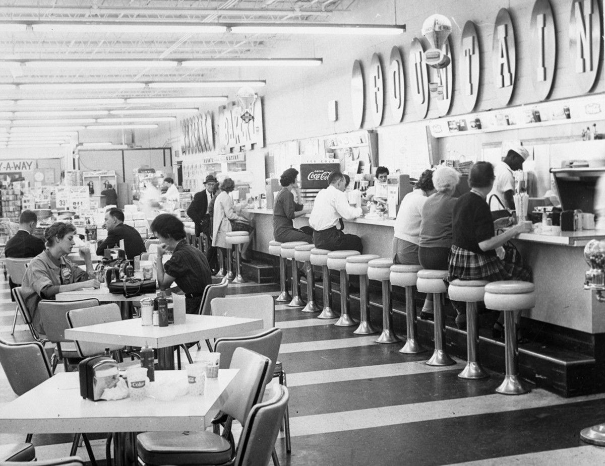 Department store lunch counter 1960s