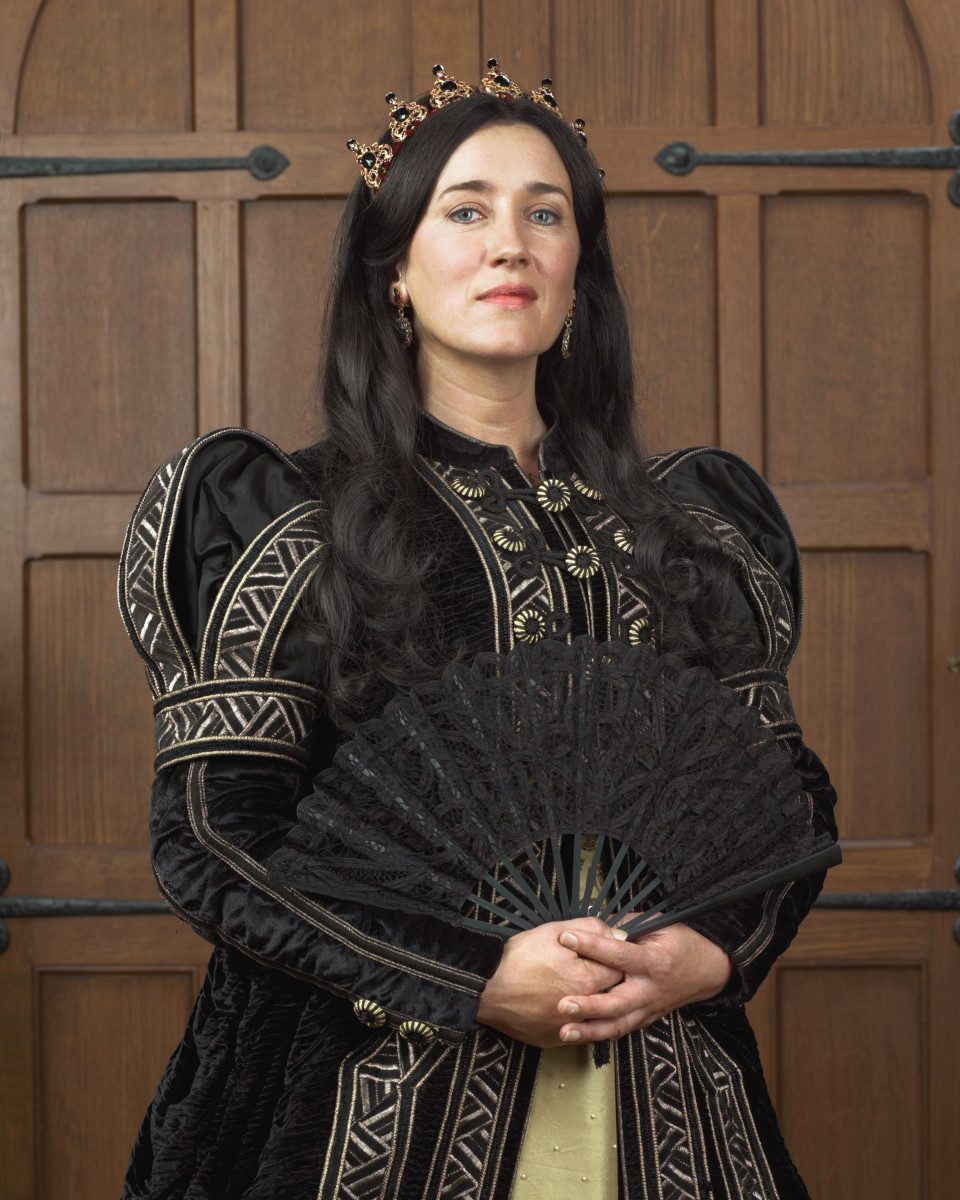 Catherine of Aragon, played by Maria Doyle-Kennedy in The Tudors. Catherine is intelligent, devoted, and cognizant.