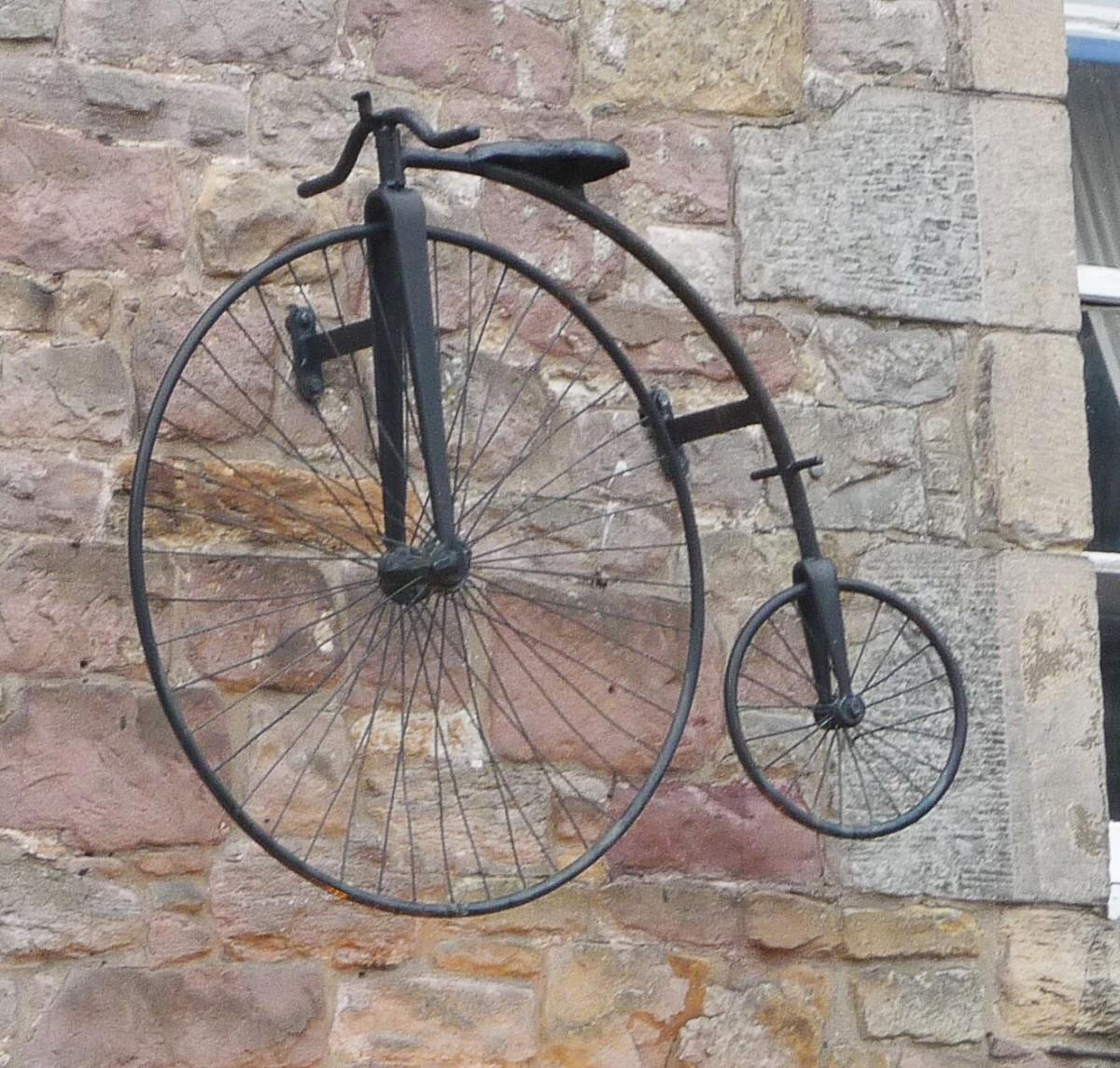 A penny-farthing in Edinburgh