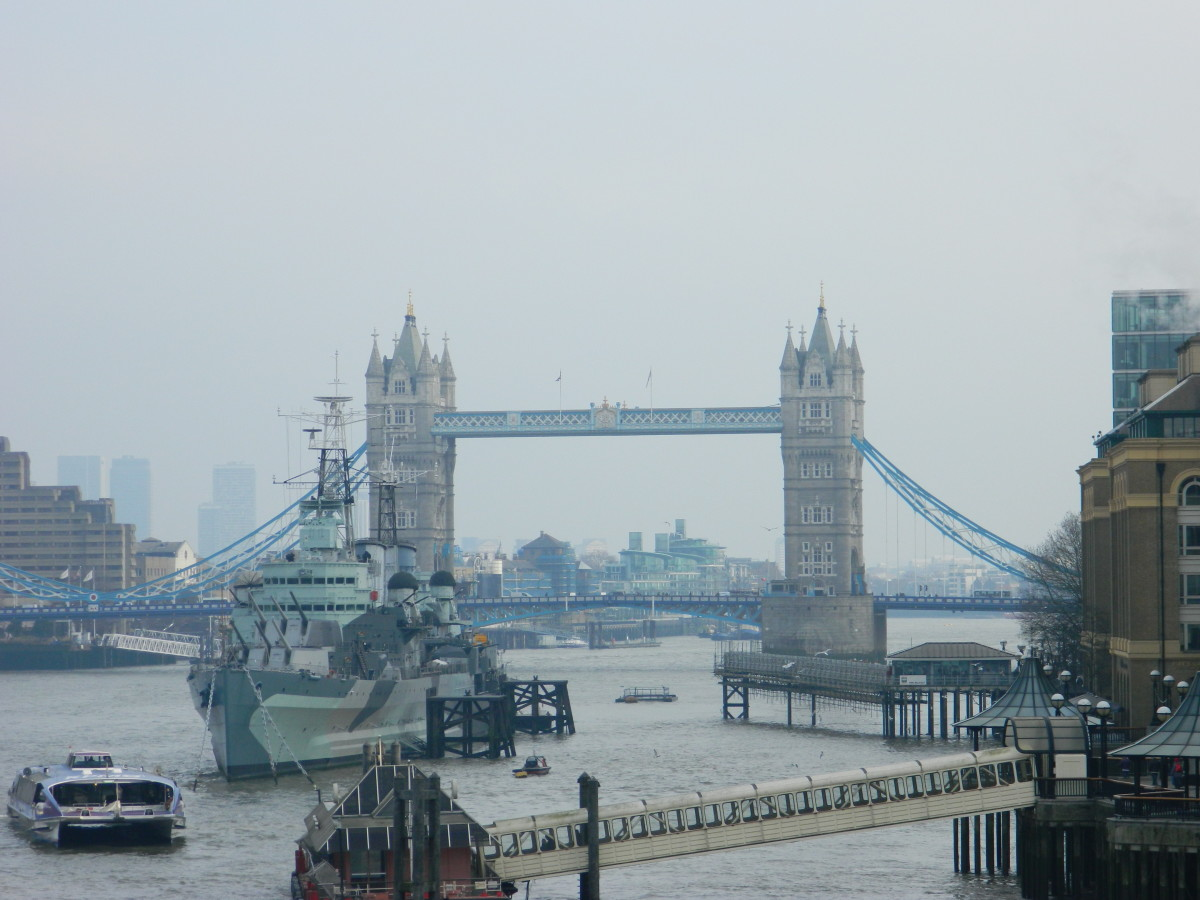 A View of the busy River Thames.