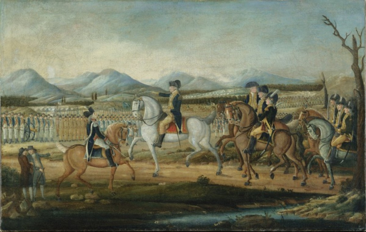 Washington Reviewing the Western Army, at Fort Cumberland, Maryland.