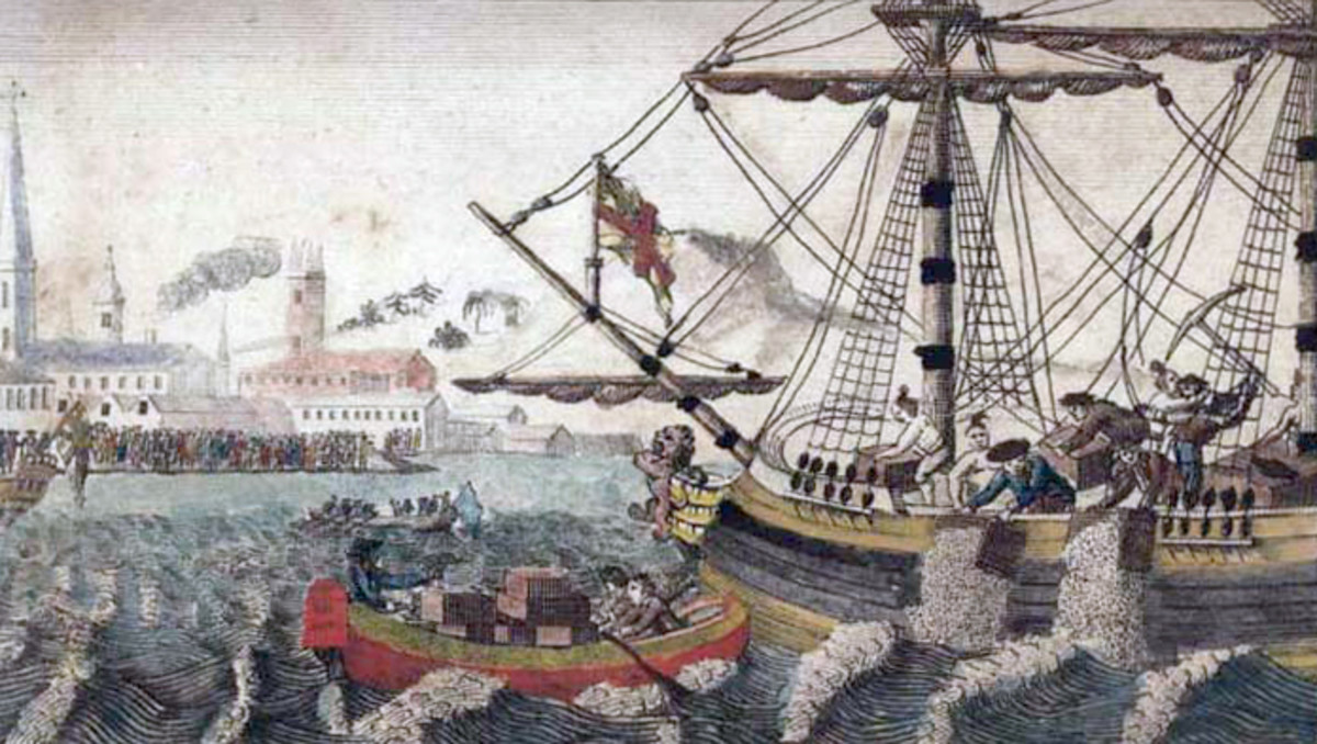 "W.D. Cooper. ""Boston Tea Party."", The History of North America. London: E. Newberry, 1789.Engraving."