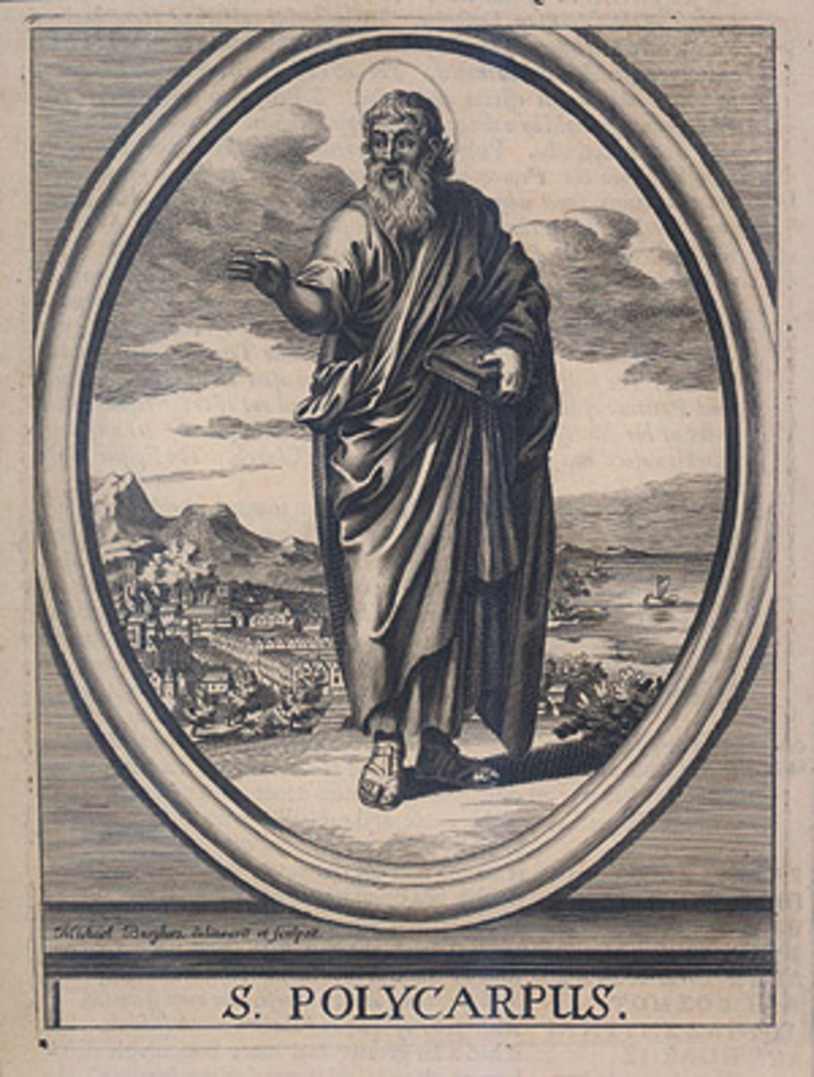 17th century engraving depicting Polycarp of Smyrna