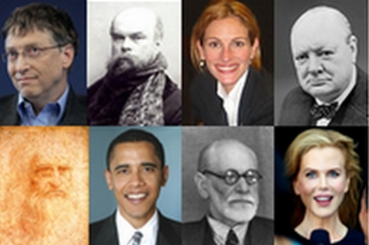 Famous lefties: Bill Gates, Paul Verlaine, Julia Roberts, Winston Churchill, Leonardo da Vinci, Barack Obama, Sigmund Freud, and Nicole Kidman.