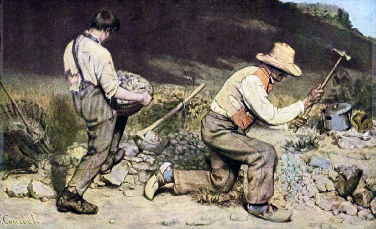 Gustave Courbet, Stone-Breakers, 1849. Another example of realist art.