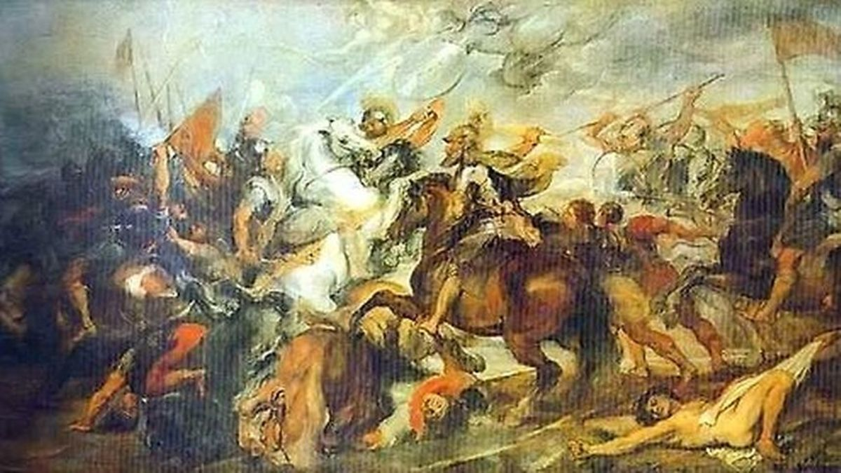 Battle of Ivry, here with a painting depicting Henri IV