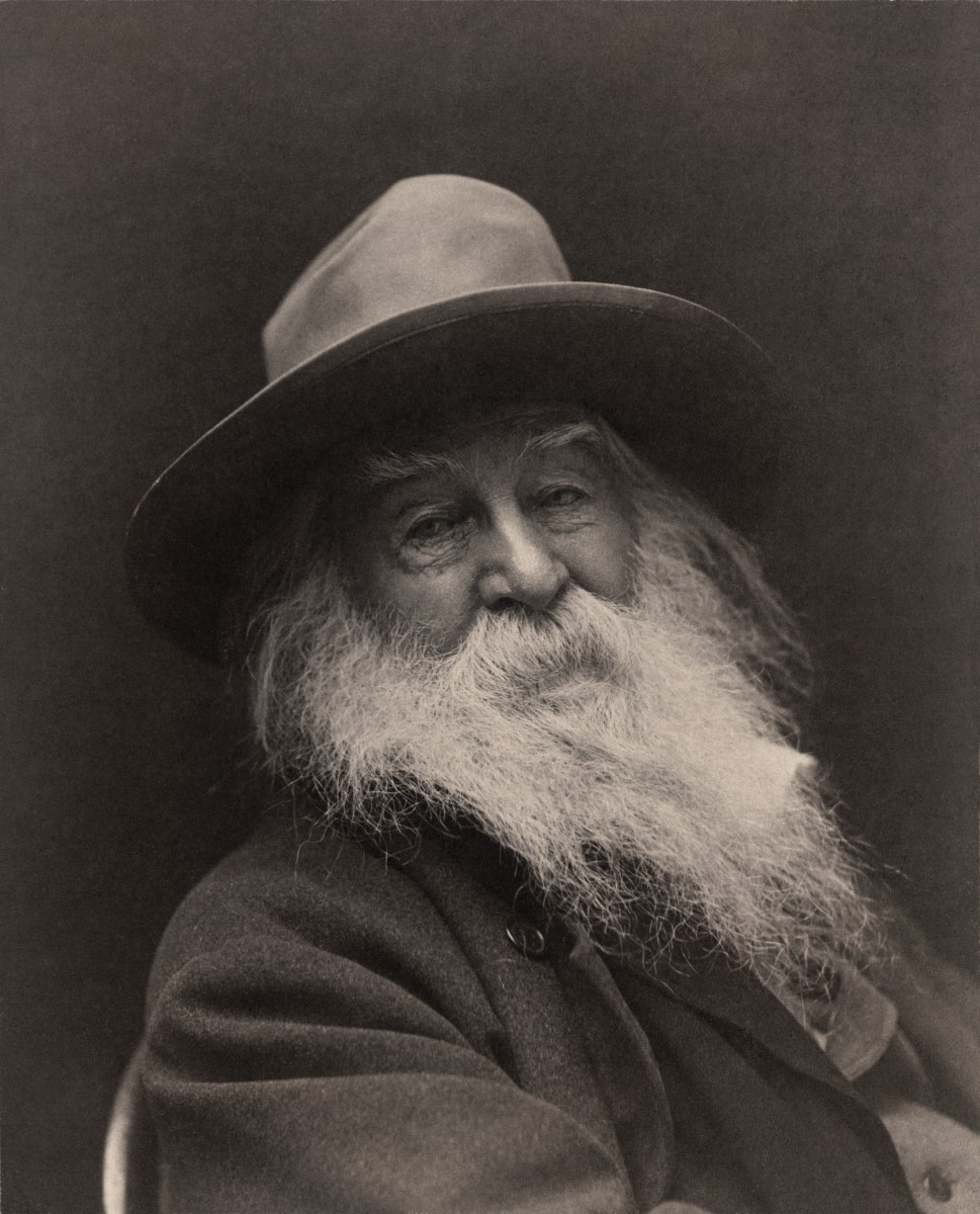 American poet Walt Whitman. This image was taken in 1887 in New York, by photographer George C. Cox.