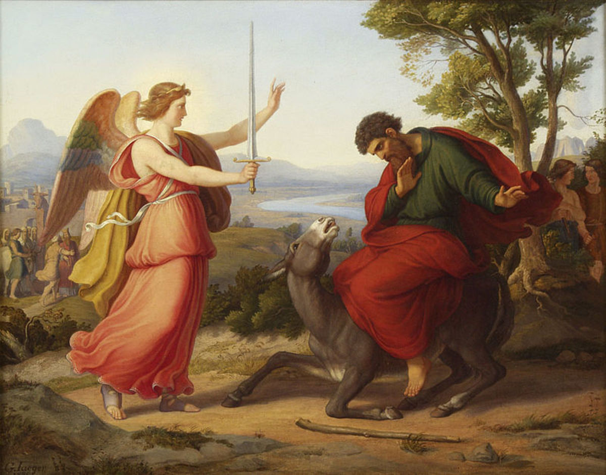 Balam stopped by an angel - Gustav Jaeger 1836