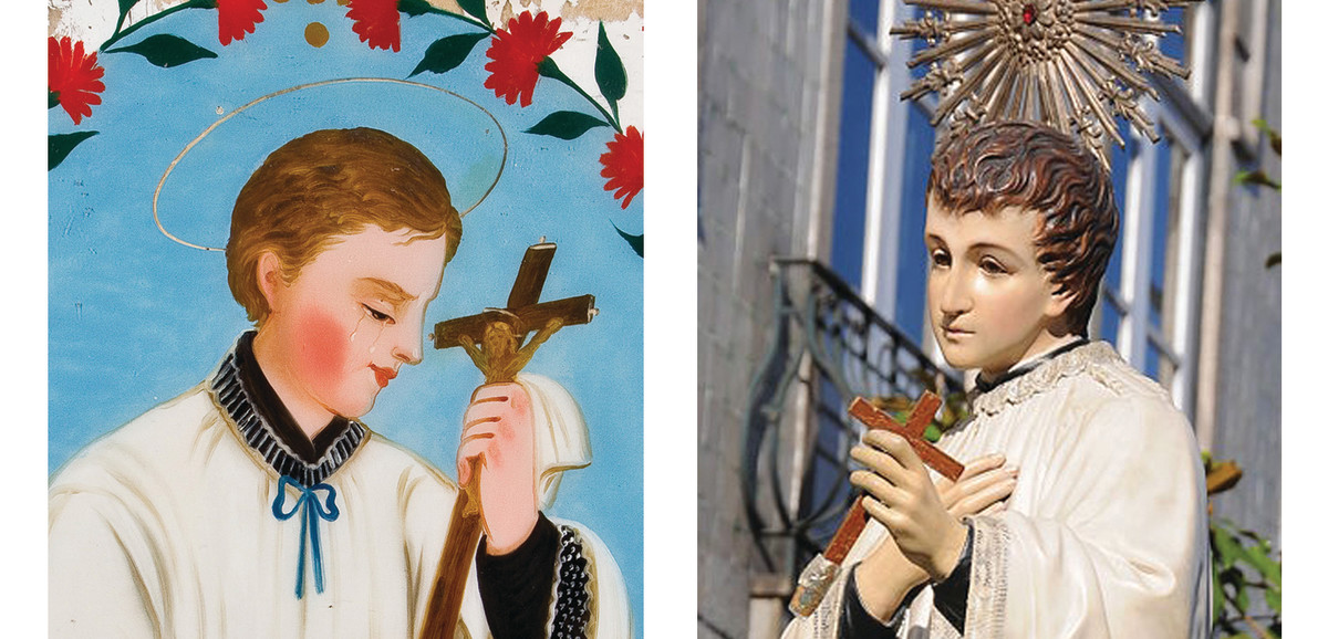 Typically over sentimental depictions of St. Aloysius.