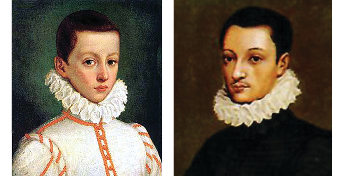 These depictions of Aloysius were painted from life when he was 5 and 17 years old.