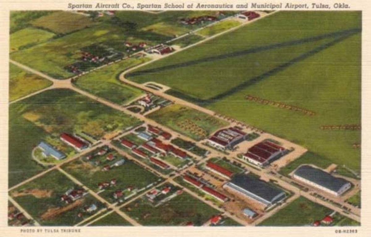 Overview of the Tulsa Airport, assumed to be 1930s - 1940s