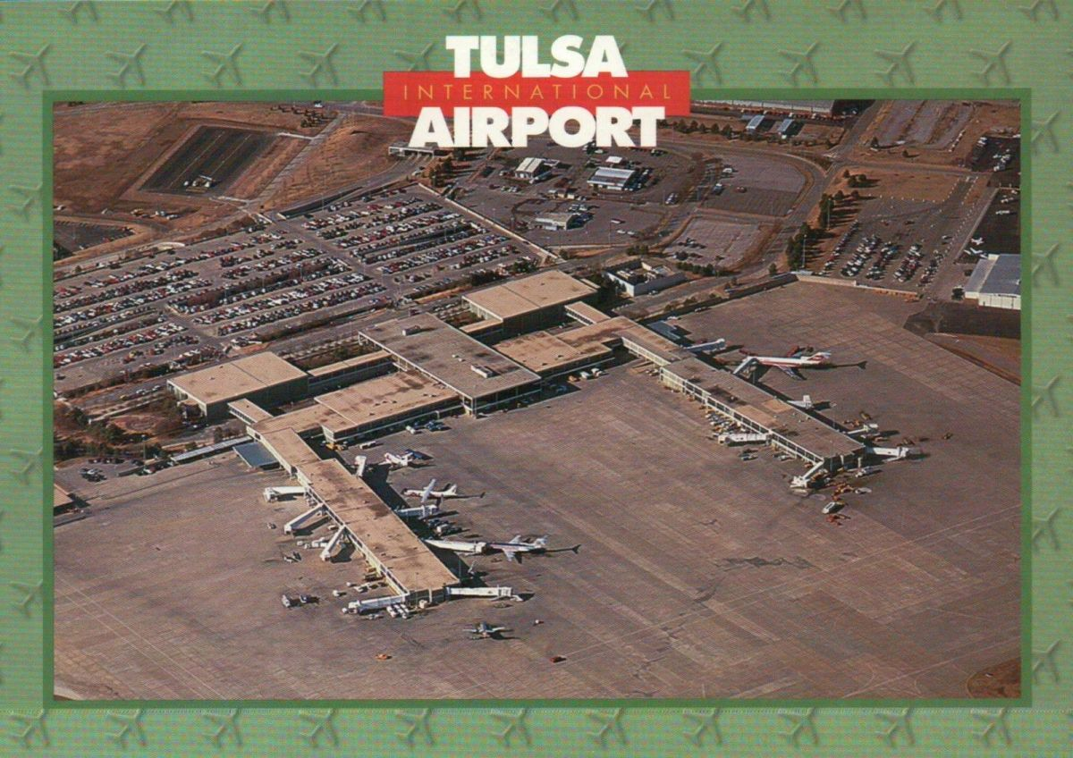 Tulsa Airport Postcard, Date Unknown