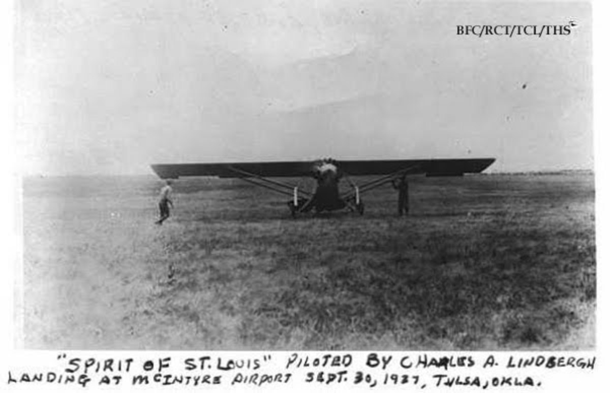 Spirit of St. Louis at the McIntyre Field, 1928