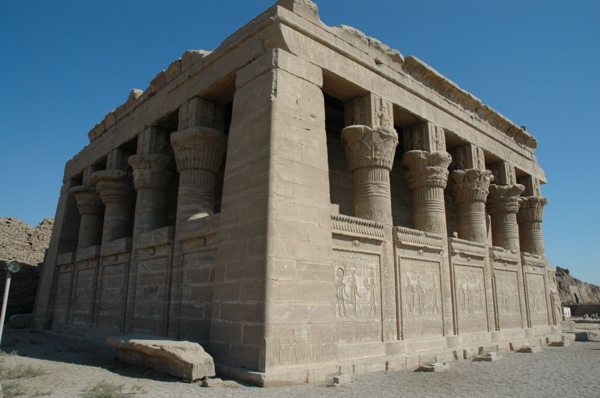 A Roman mammisi or chapel added to Dendera Temple, using the traditional Egyptian temple style.