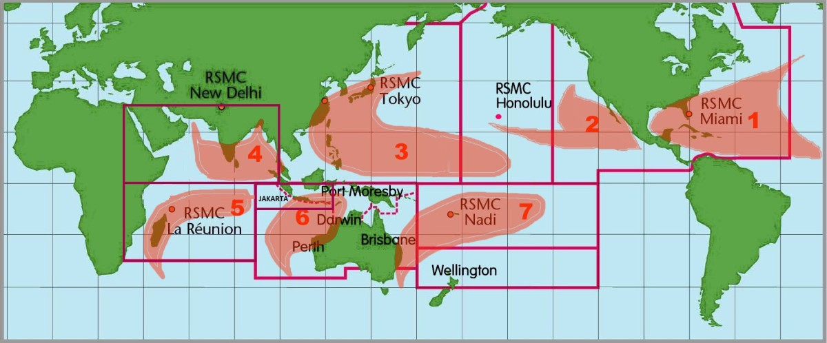 These are seven tropical cyclone basins where storms most often happen on a regular basimages of the seven tropical cyclone basins where storms occur on a regular basis.
