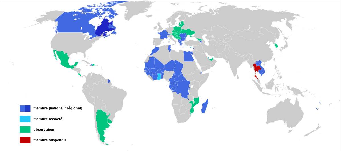 The Francophonie is a surprisingly large organization. The level of French spoken there varies by country of course, but it still demonstrates its influence.