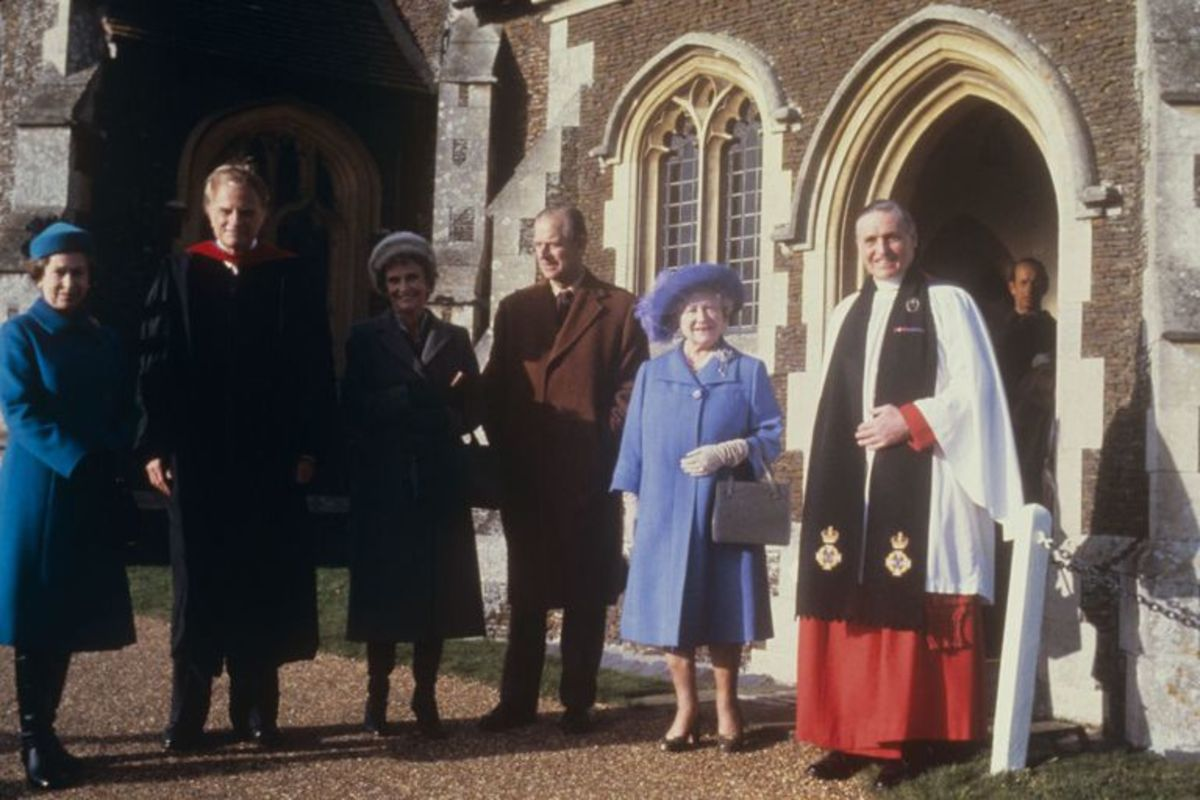 Billy Graham and wife Ruth with Queen Elizabeth and Prince Philip in 1984.