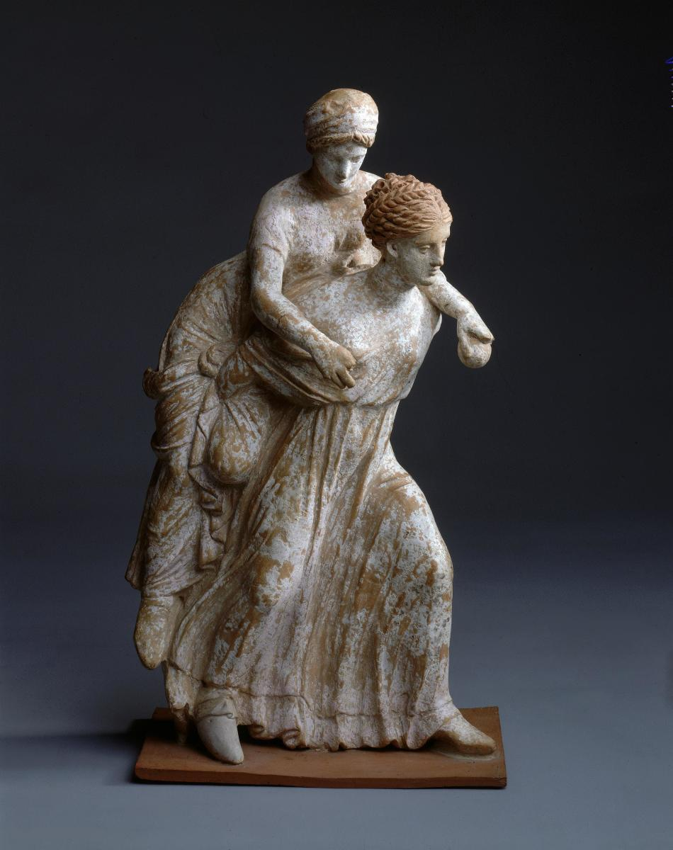 Girls Playing Ephedrismos. Ancient Greece, Corinth, Early 3rd century BC