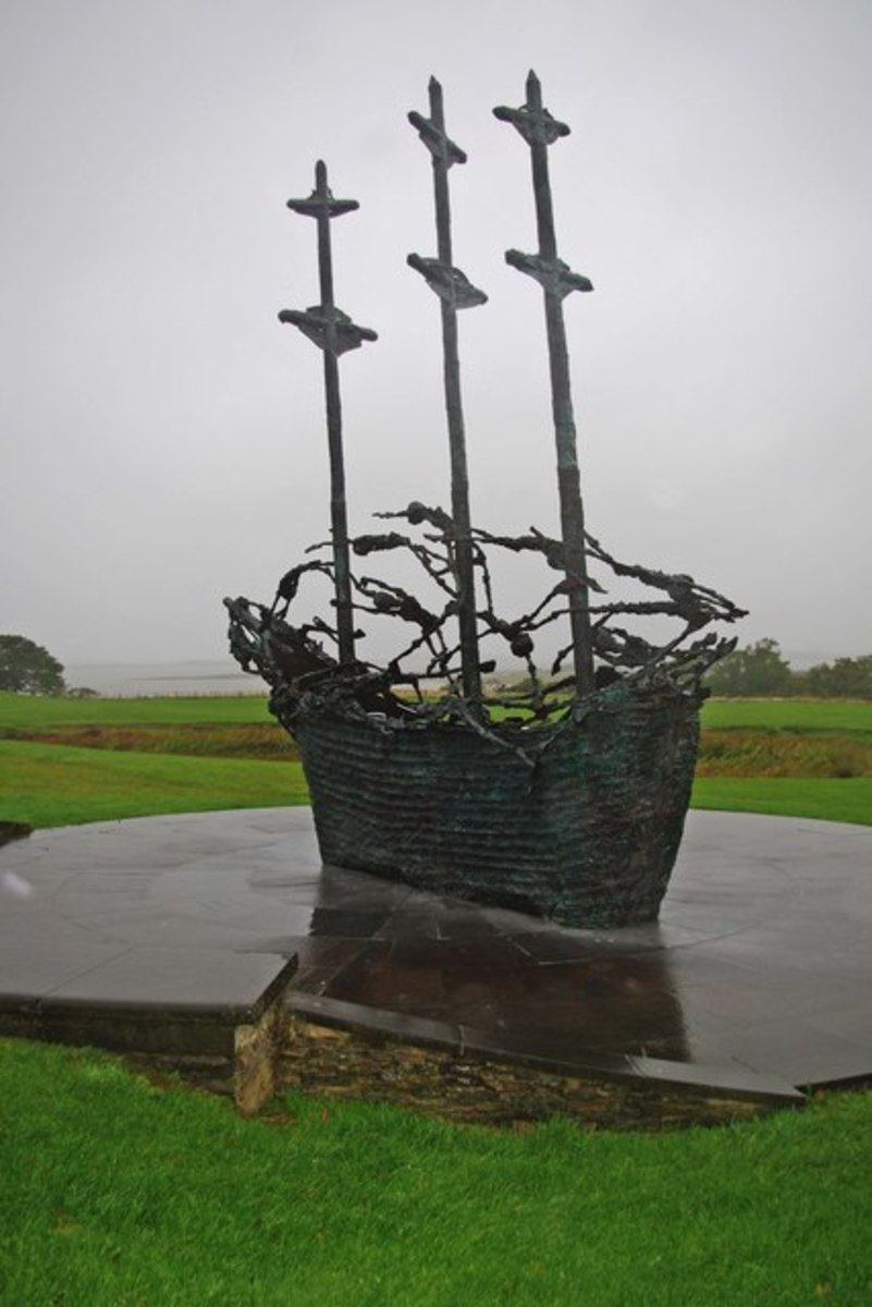 The National memorial to the Irish emigrants who fled the famine and endured terrible conditions aboard the coffin ships.
