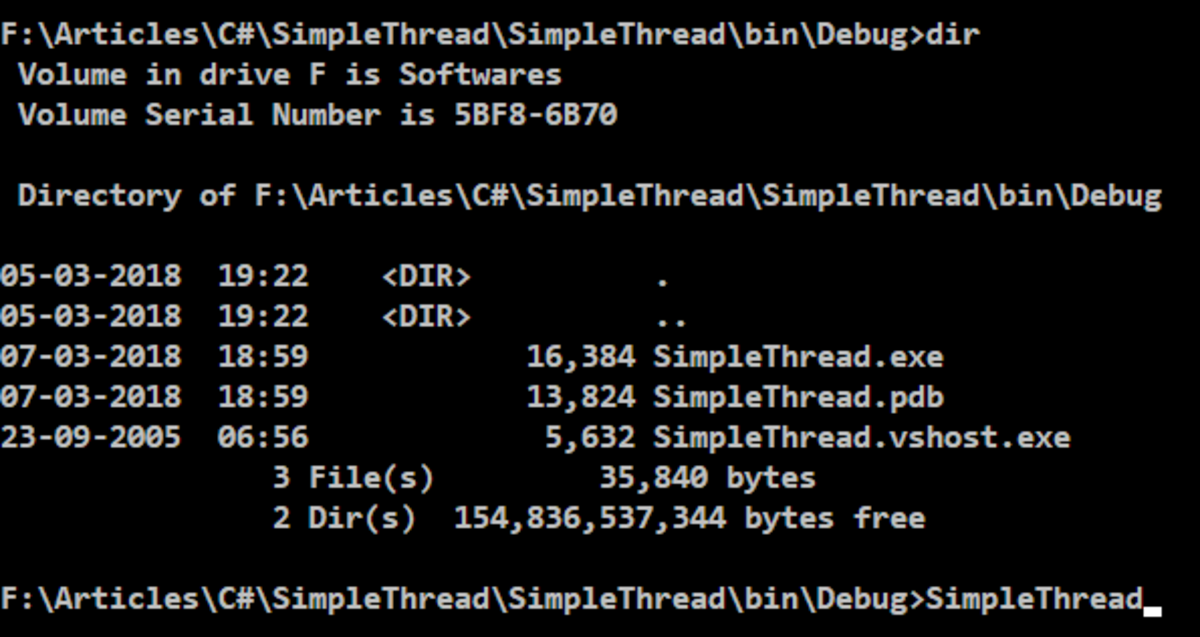 Run the SimpleThread from command line