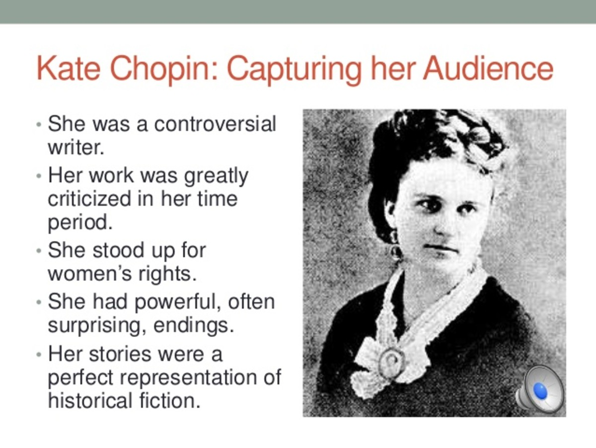 "issues in womens roles in the story of an hour by kate chopin Cherished patriarchal assumptions about woman's role and matrimonial   woman' reflected in the awakening, ""the story of an hour"" and ""a pair of silk   chopin's fiction mainly revolves around the issue of marriage, motherhood,  women's."