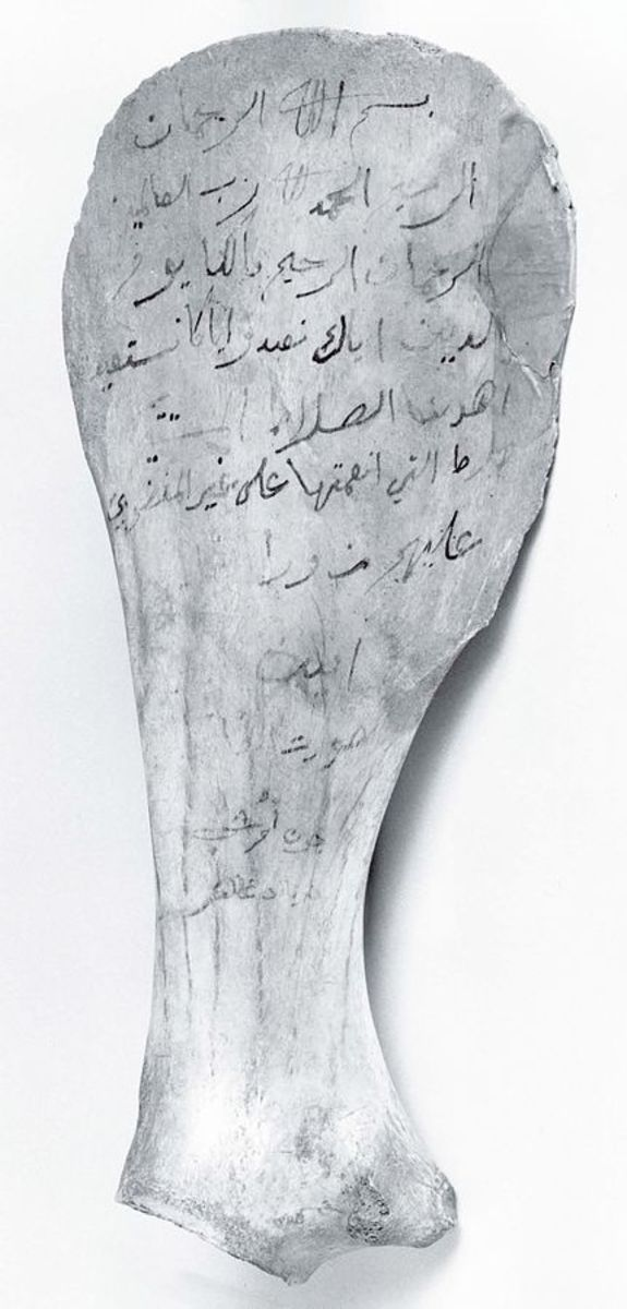 Zaid collected verses of the first fully written Quran from the memories of reciters, parchments, and even fragments of bone