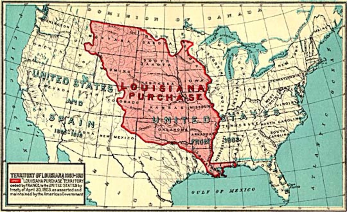 Map of the Louisiana Purchase.