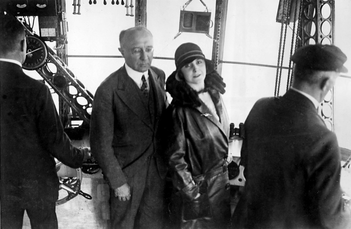 Grace and Karl aboard the Graf Zeppelin.