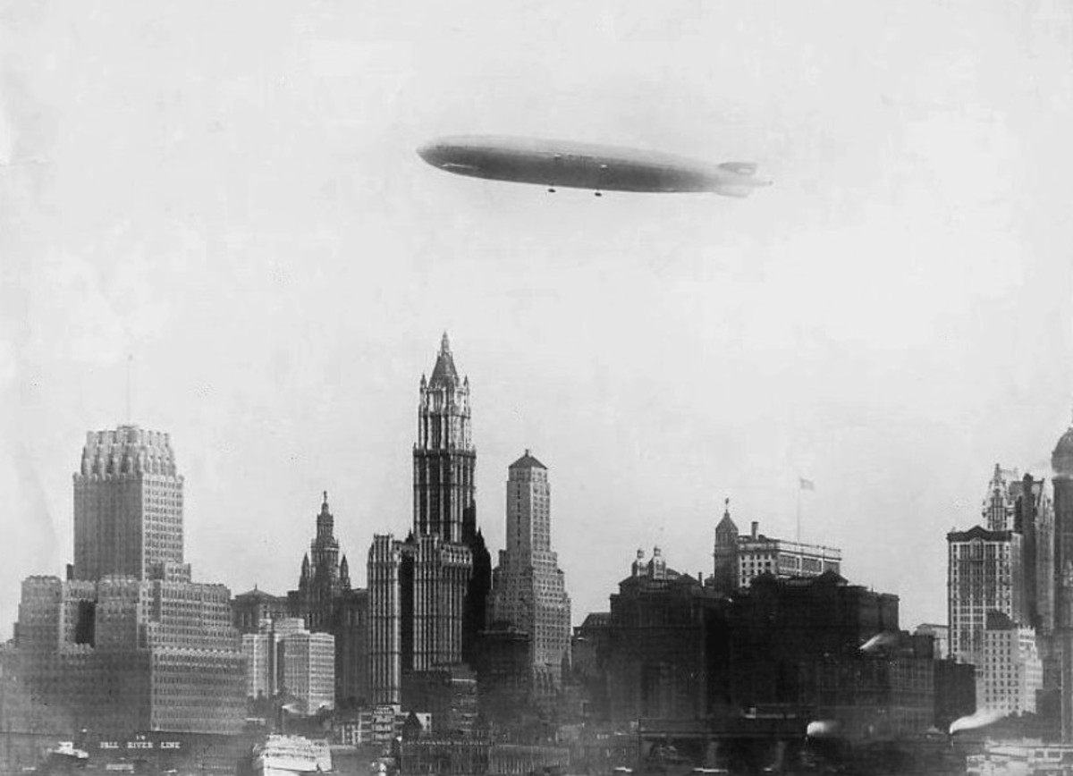 The Graf Zeppelin over New York.