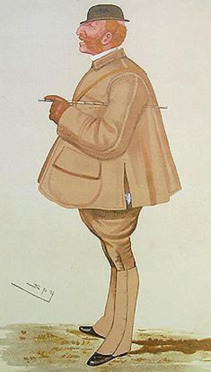 A caricature of Lord Arthur Somerset.