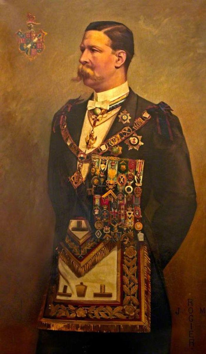 The Earl of Euston in Masonic regalia.