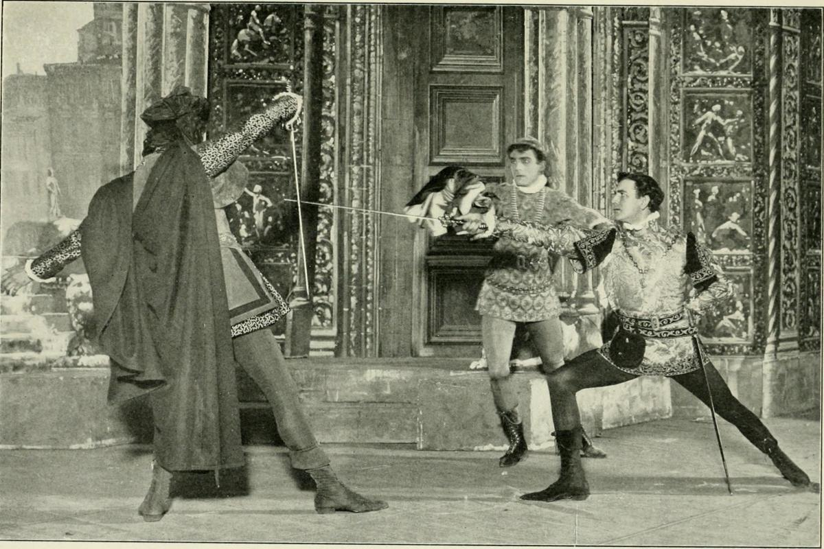 Benvolio and others, from the Maude Adams Acting Edition of Romeo and Juliet